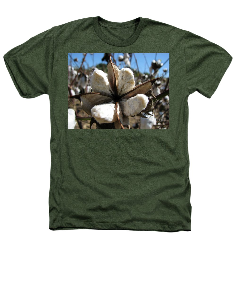 Cotton Heathers T-Shirt featuring the photograph Cotton by Amanda Barcon