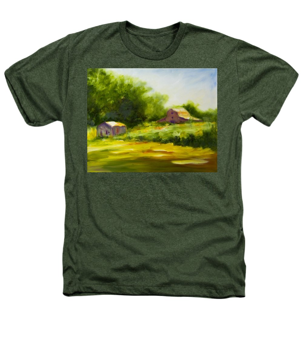 Landscape In Green Heathers T-Shirt featuring the painting Courage by Shannon Grissom