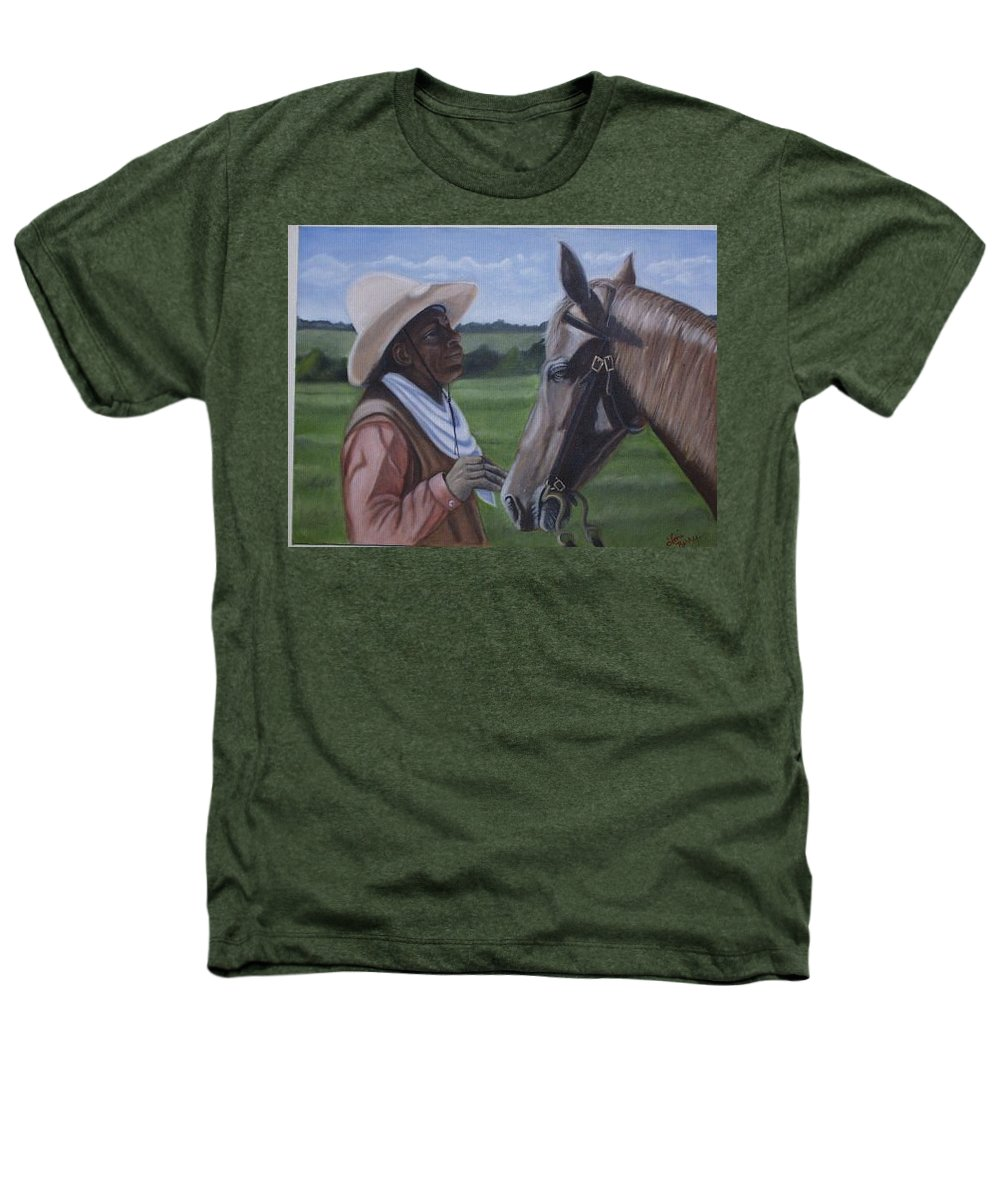 Portrait Heathers T-Shirt featuring the painting Cowboy2 by Toni Berry