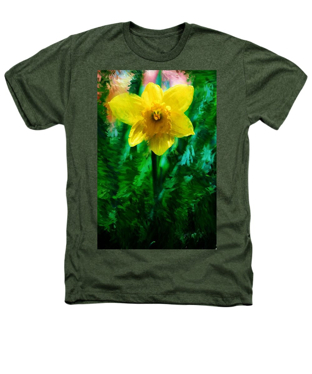 Abstract Heathers T-Shirt featuring the photograph Daffy Dill by David Lane