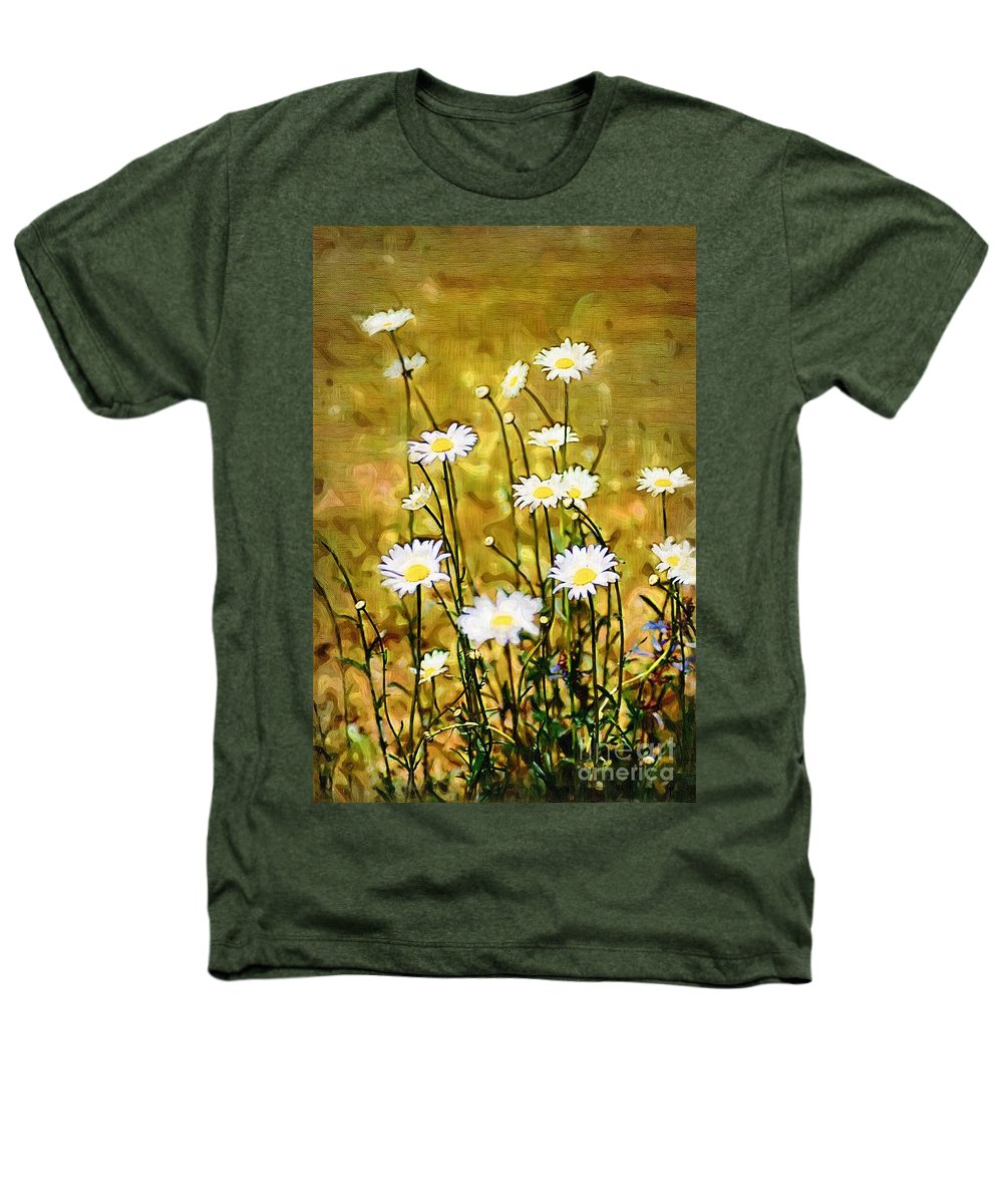 Daisy Heathers T-Shirt featuring the photograph Daisy Field by Donna Bentley