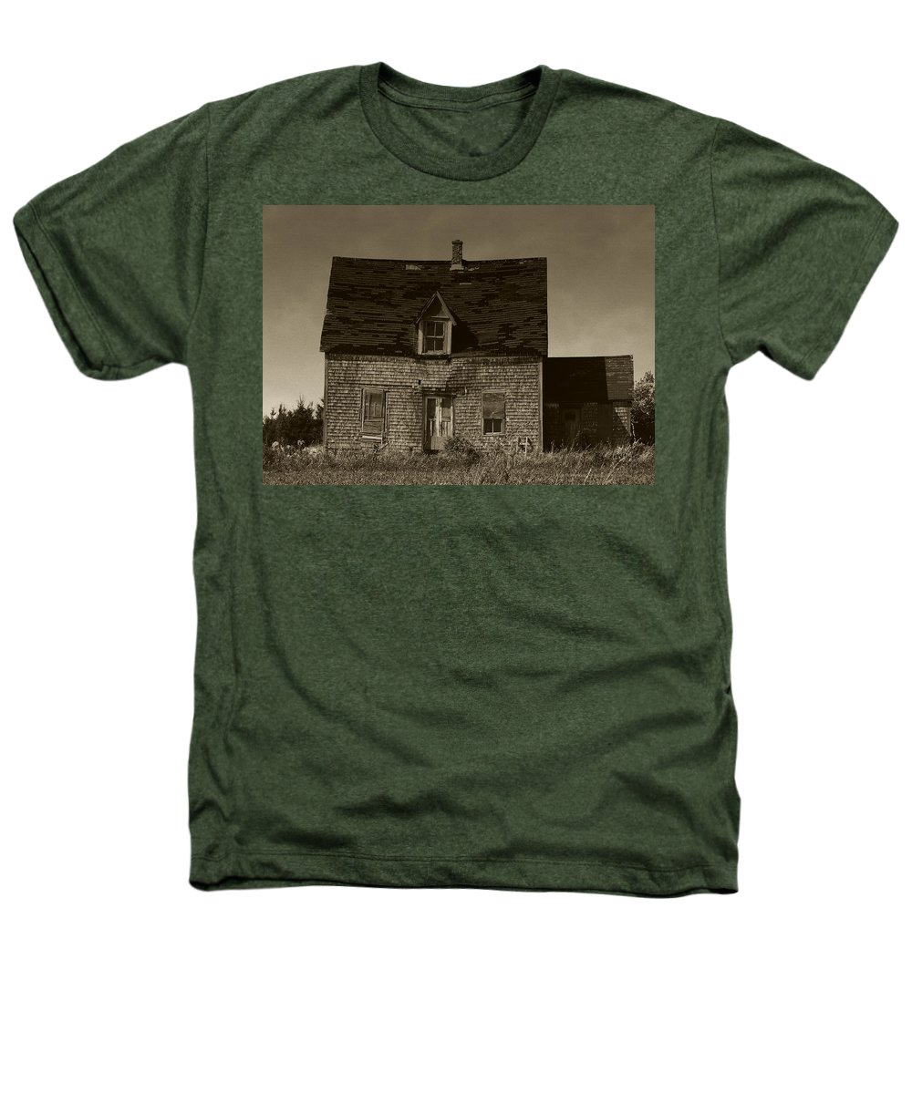 Old House Heathers T-Shirt featuring the photograph Dark Day On Lonely Street by RC DeWinter