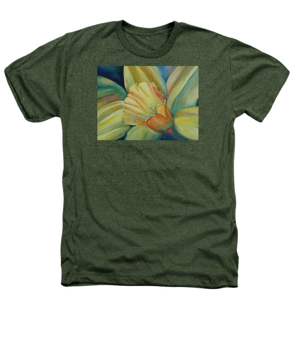 Flower Heathers T-Shirt featuring the painting Dazzling Daffodil by Ruth Kamenev