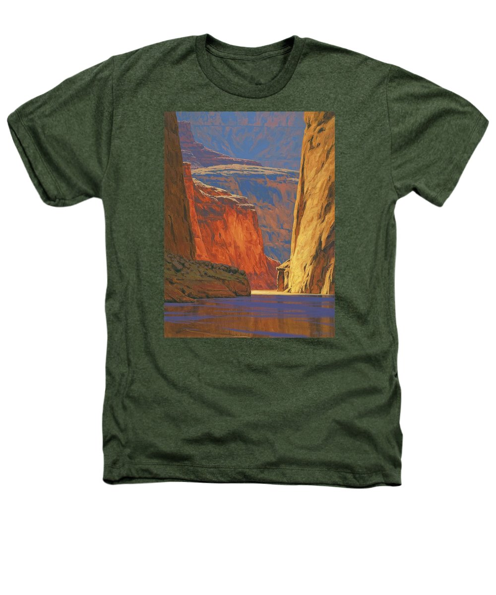 Grand Canyon Heathers T-Shirt featuring the painting Deep In The Canyon by Cody DeLong