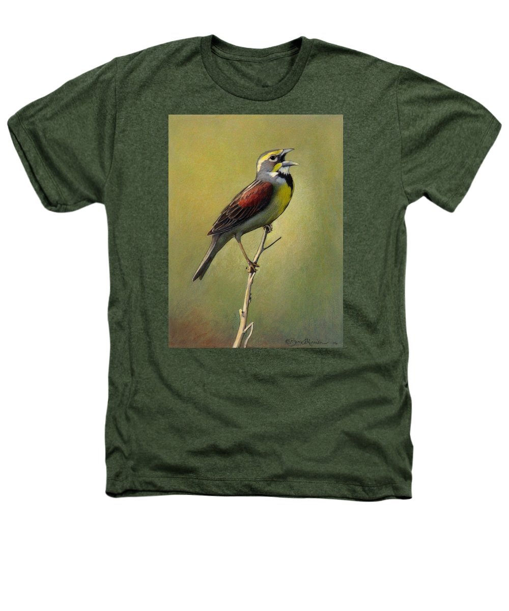Birds Heathers T-Shirt featuring the drawing Dickcissel Summer Song by Bruce Morrison