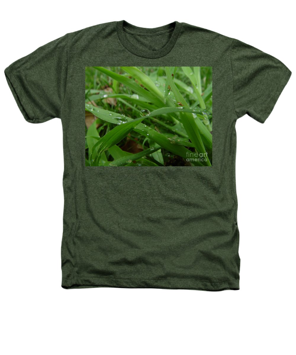 Water Droplet Heathers T-Shirt featuring the photograph Droplets 01 by Peter Piatt