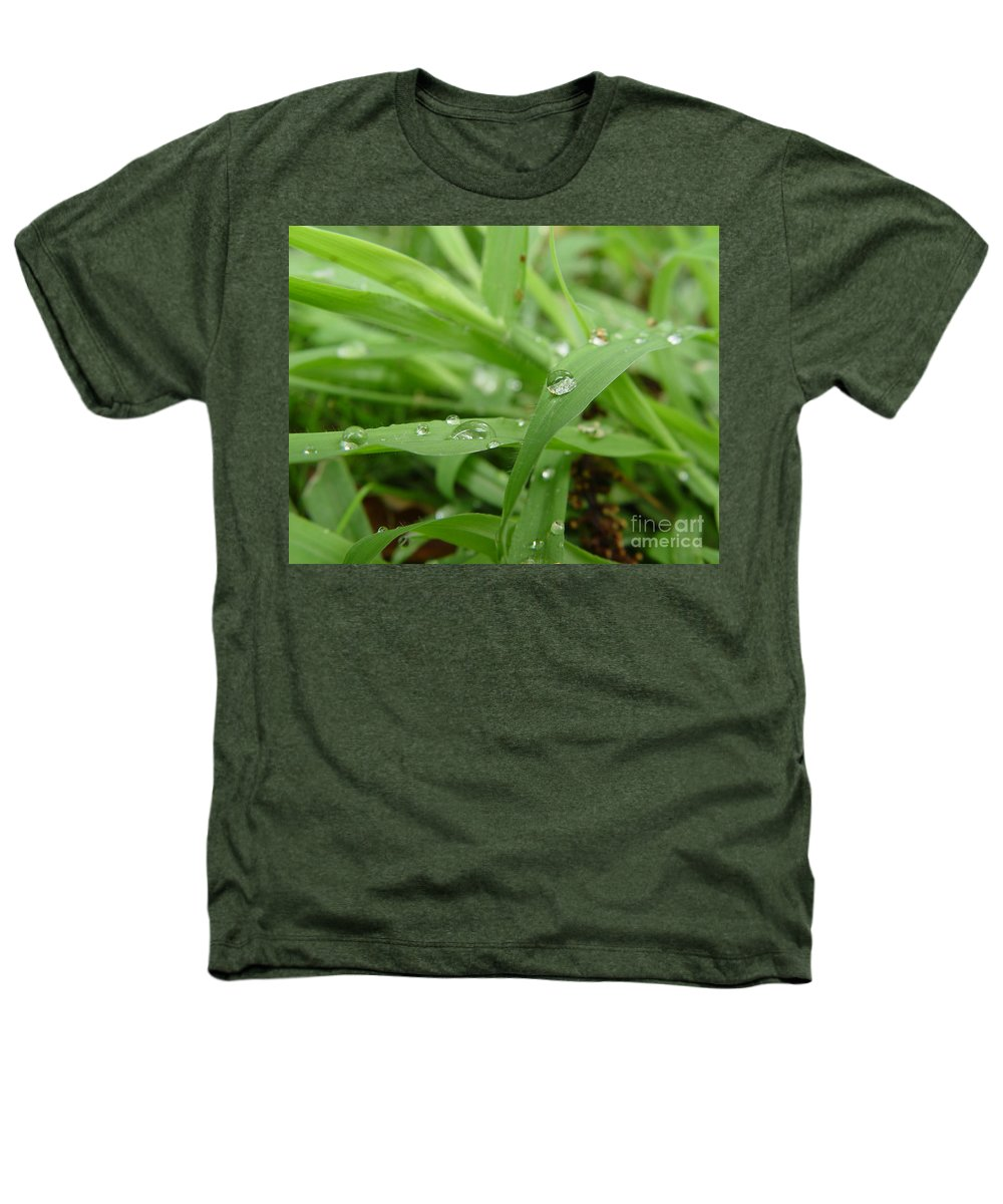 Water Droplet Heathers T-Shirt featuring the photograph Droplets 02 by Peter Piatt