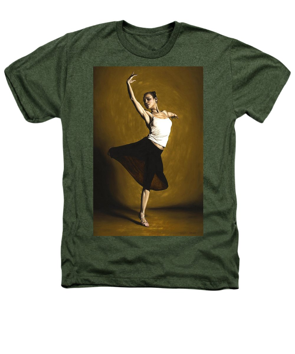 Elegant Heathers T-Shirt featuring the painting Elegant Dancer by Richard Young