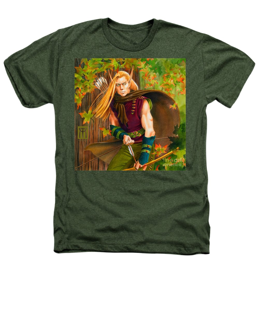 Elf Heathers T-Shirt featuring the painting Elven Hunter by Melissa A Benson