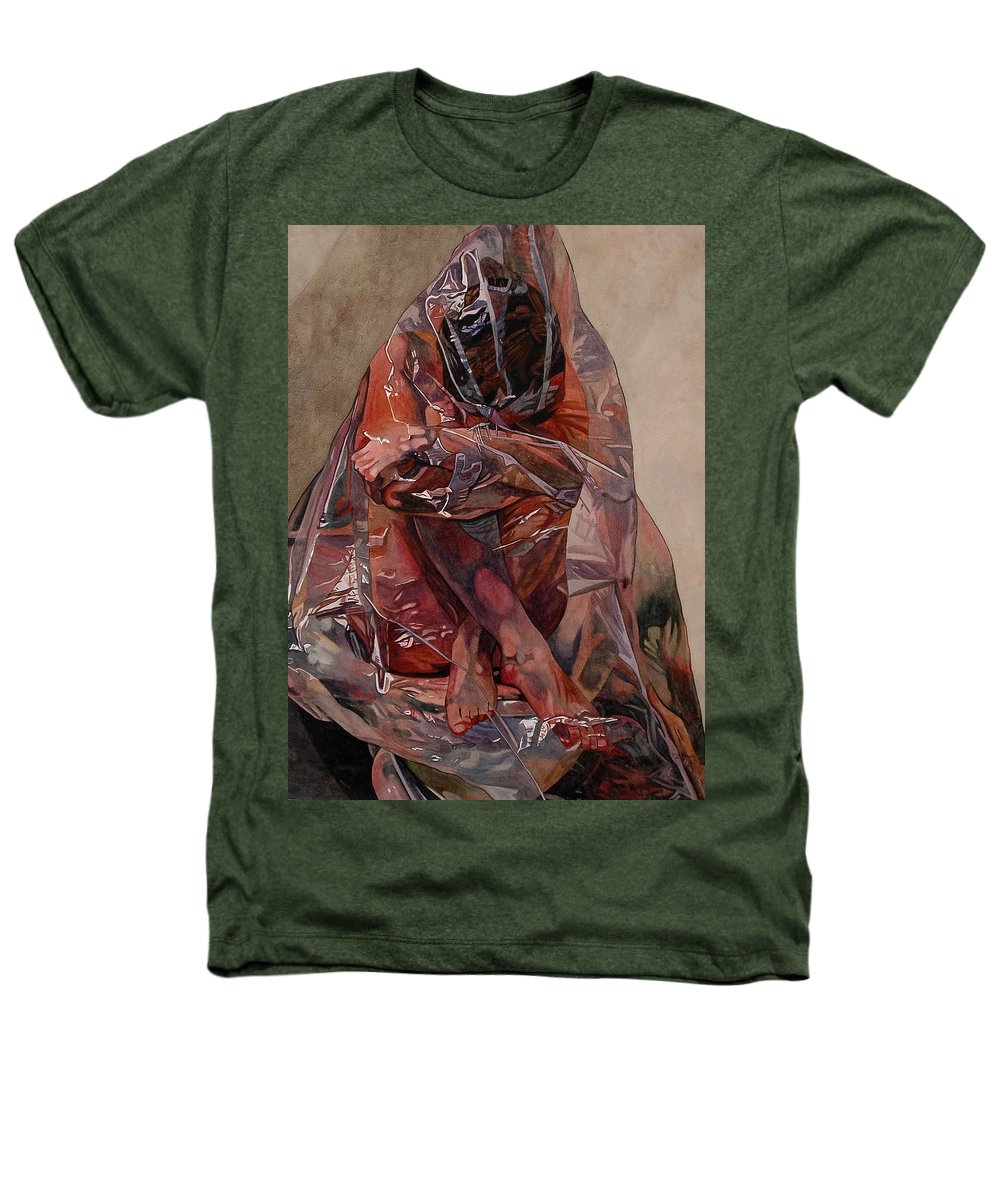 Nude Heathers T-Shirt featuring the painting Encompassed by Valerie Patterson