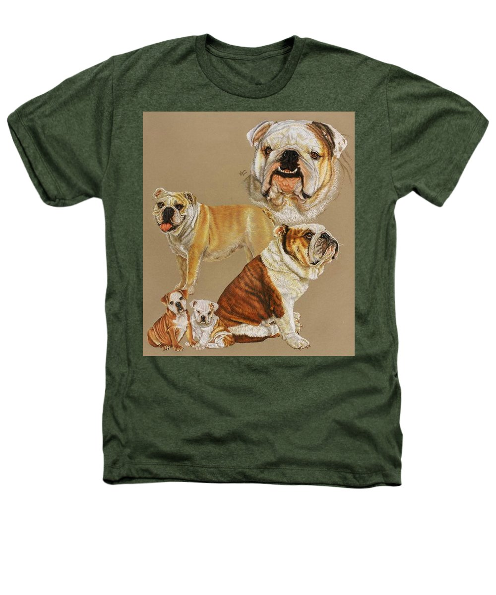 Purebred Heathers T-Shirt featuring the drawing English Bulldog by Barbara Keith