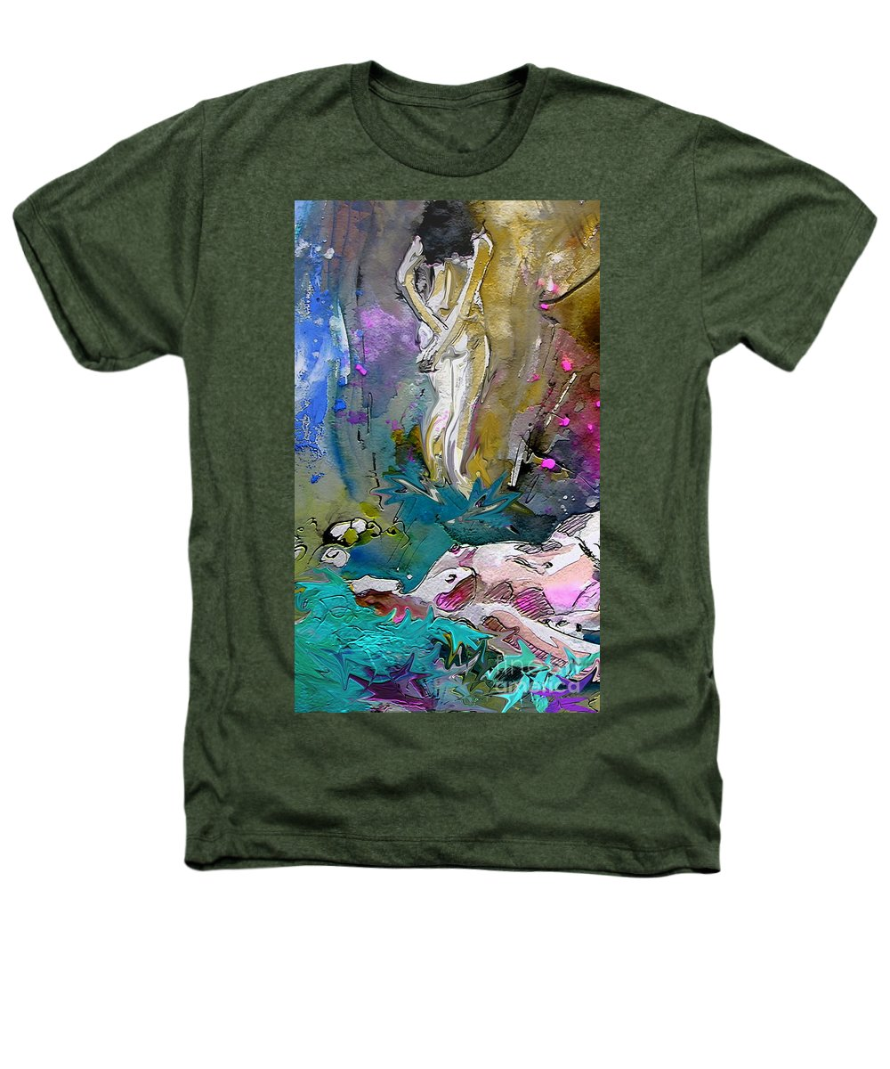Miki Heathers T-Shirt featuring the painting Eroscape 1104 by Miki De Goodaboom