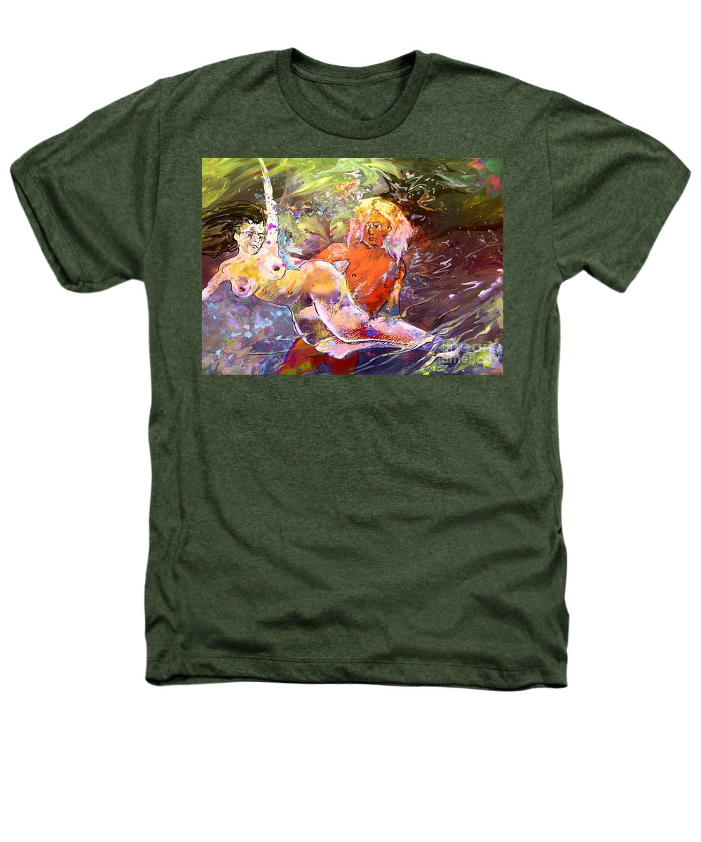 Miki Heathers T-Shirt featuring the painting Erotype 06 1 by Miki De Goodaboom