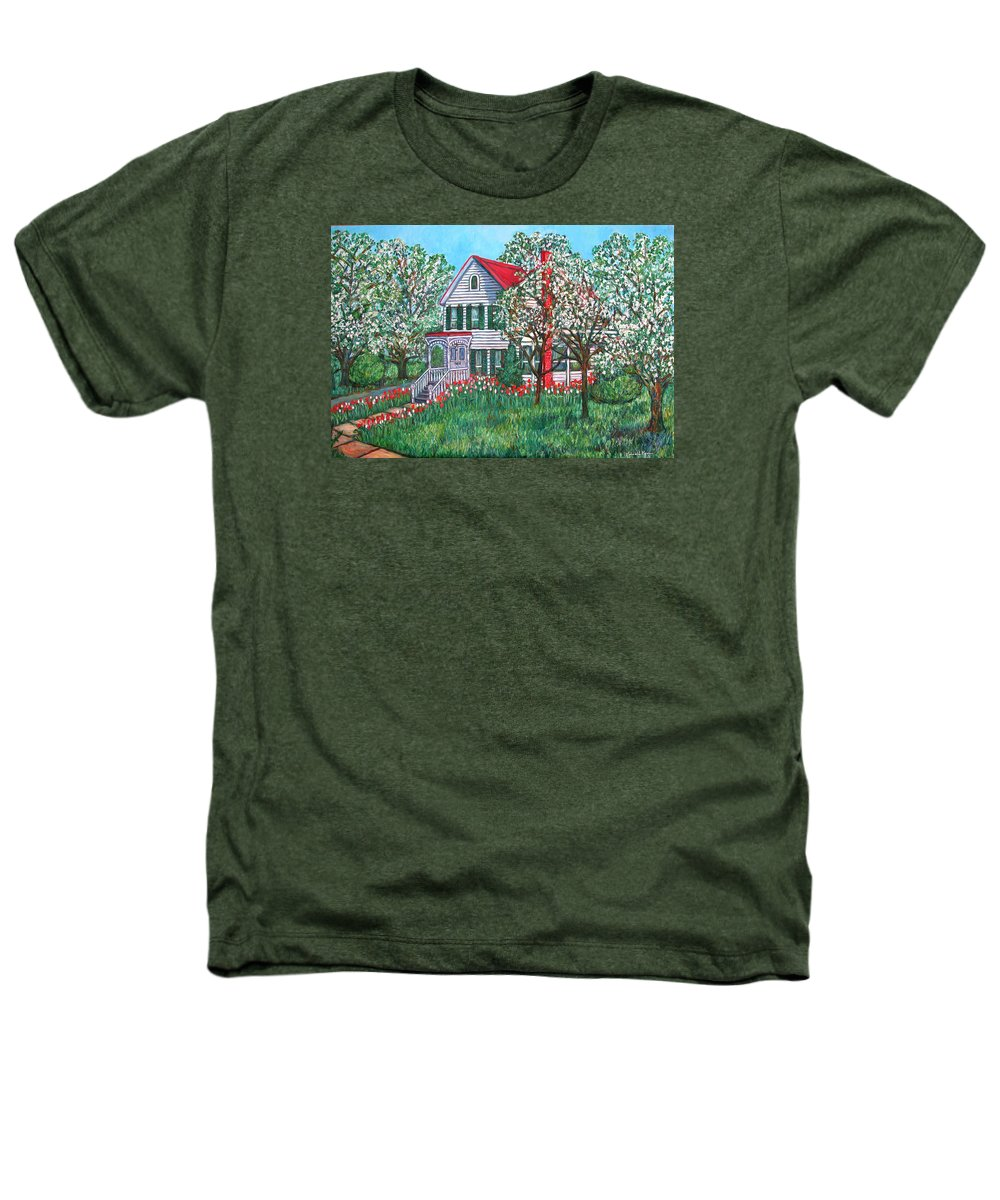 Home Heathers T-Shirt featuring the painting Esther's Home by Kendall Kessler