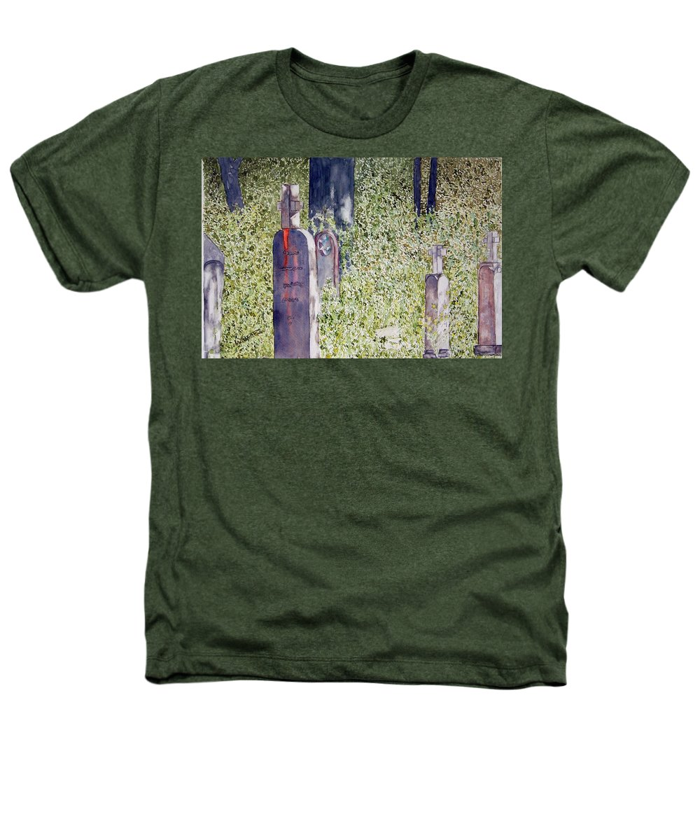 Cemeteries Heathers T-Shirt featuring the painting Eternity In Hoonah by Larry Wright