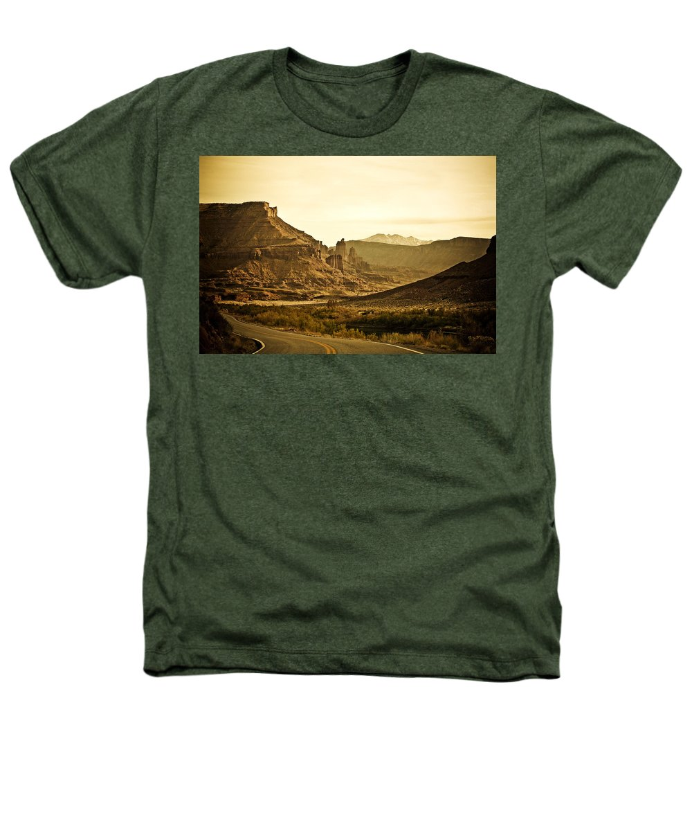 Americana Heathers T-Shirt featuring the photograph Evening In The Canyon by Marilyn Hunt