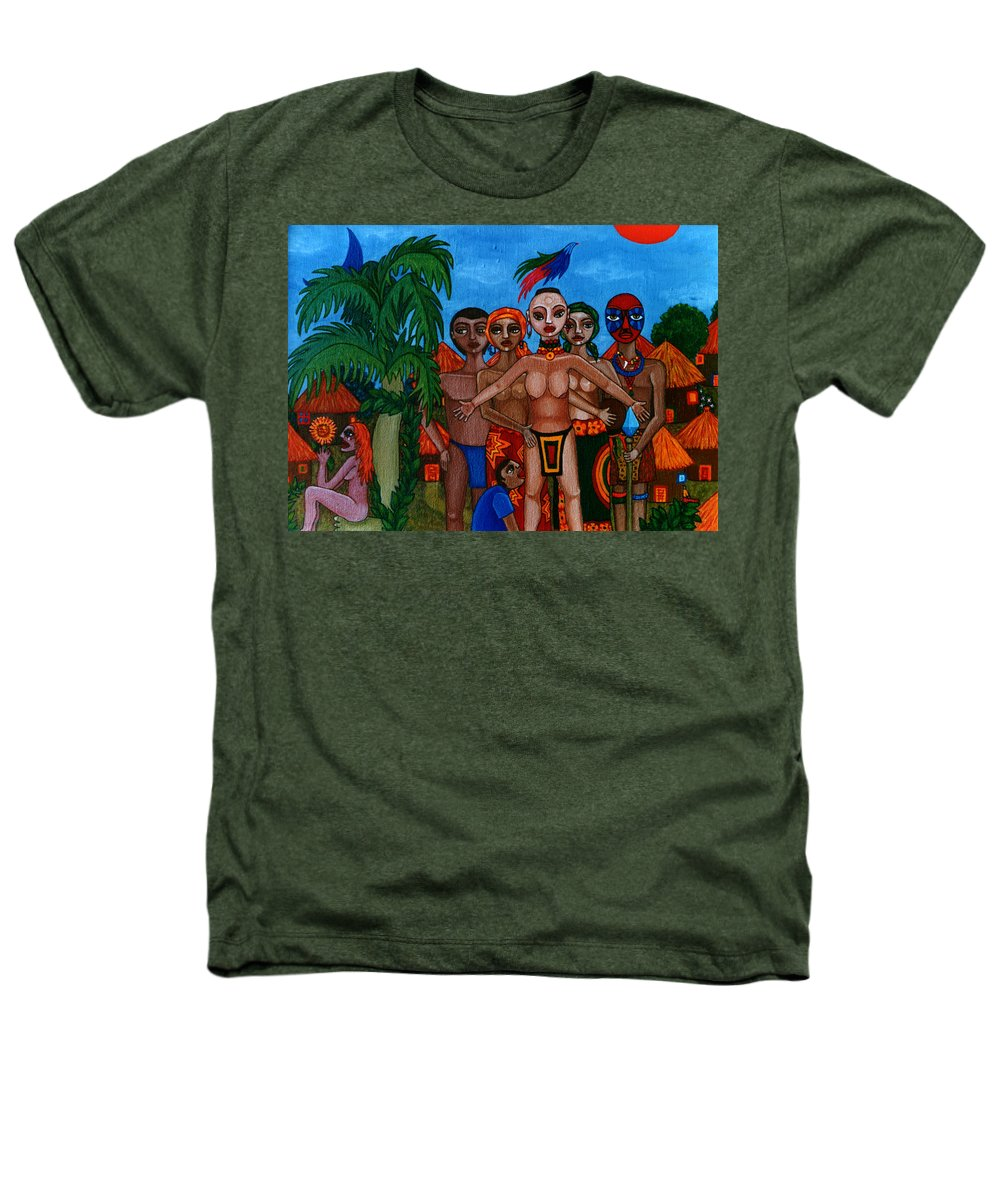 Homeland Heathers T-Shirt featuring the painting Exiled In Homeland by Madalena Lobao-Tello
