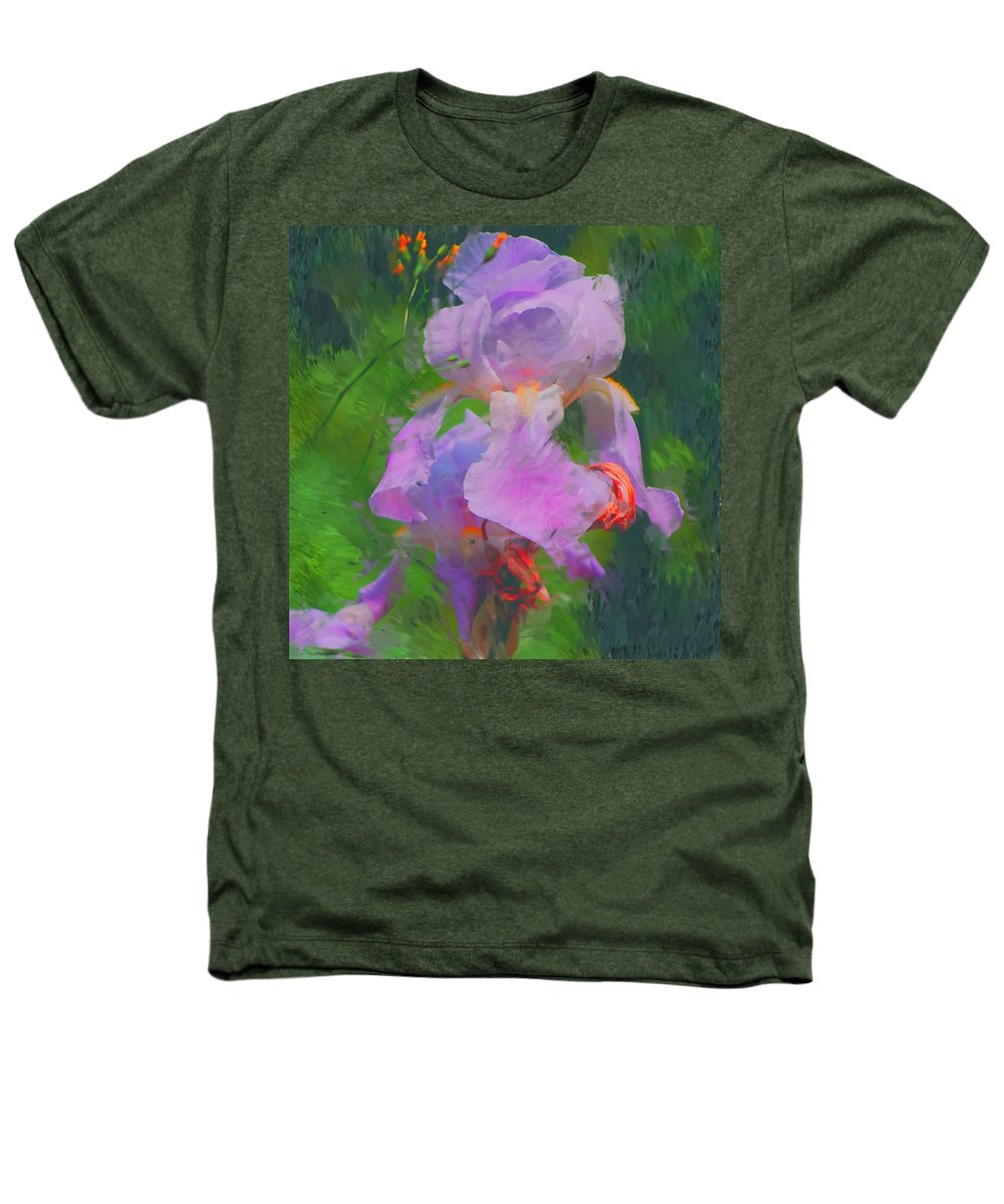 Iris Heathers T-Shirt featuring the painting Fading Glory by David Lane