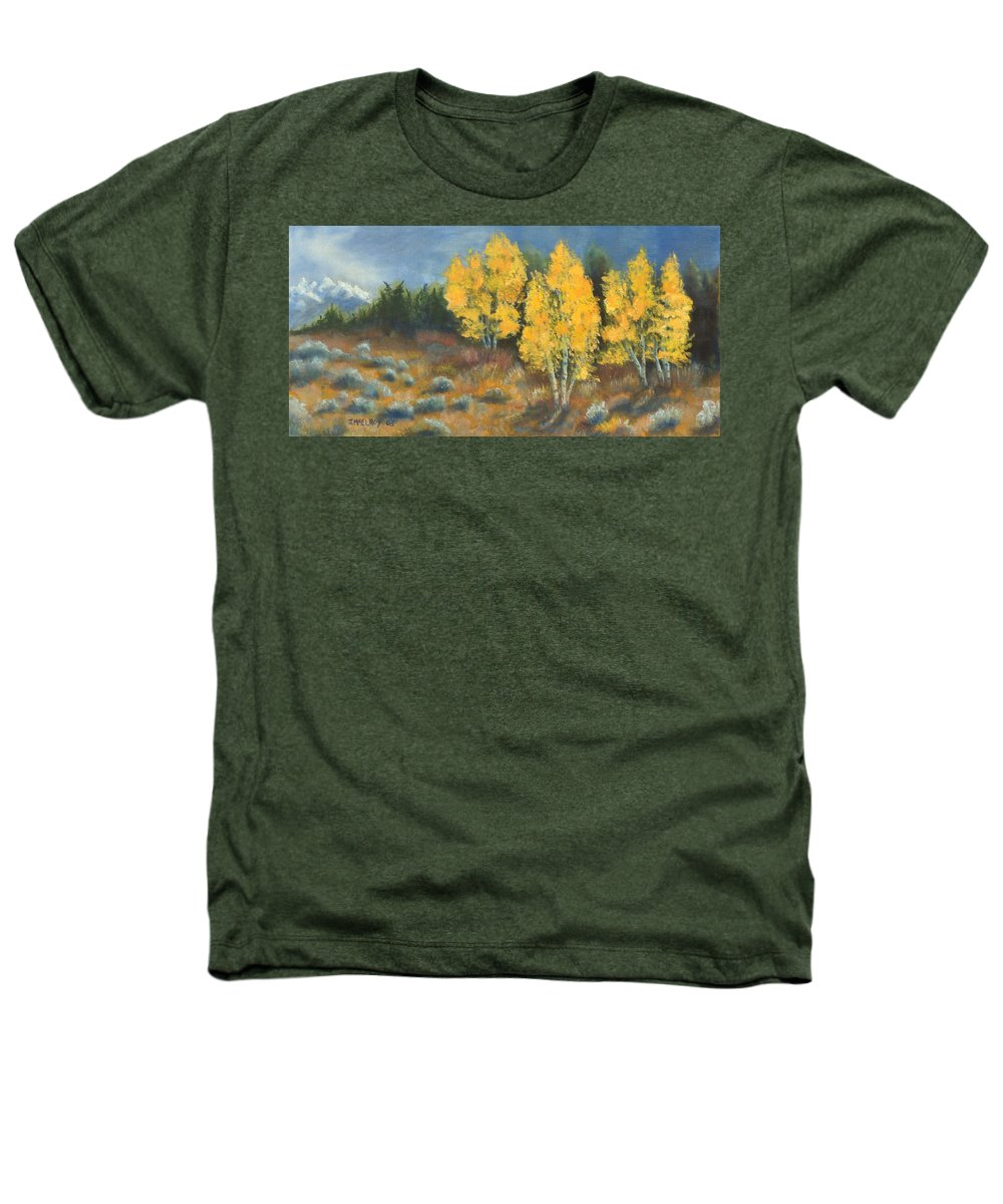 Landscape Heathers T-Shirt featuring the painting Fall Delight by Jerry McElroy