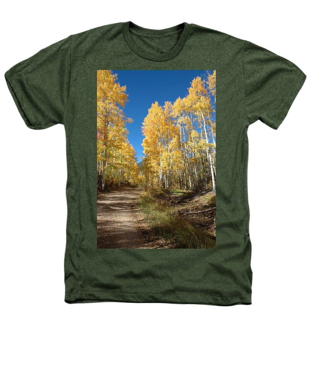 Landscape Heathers T-Shirt featuring the photograph Fall Road by Jerry McElroy