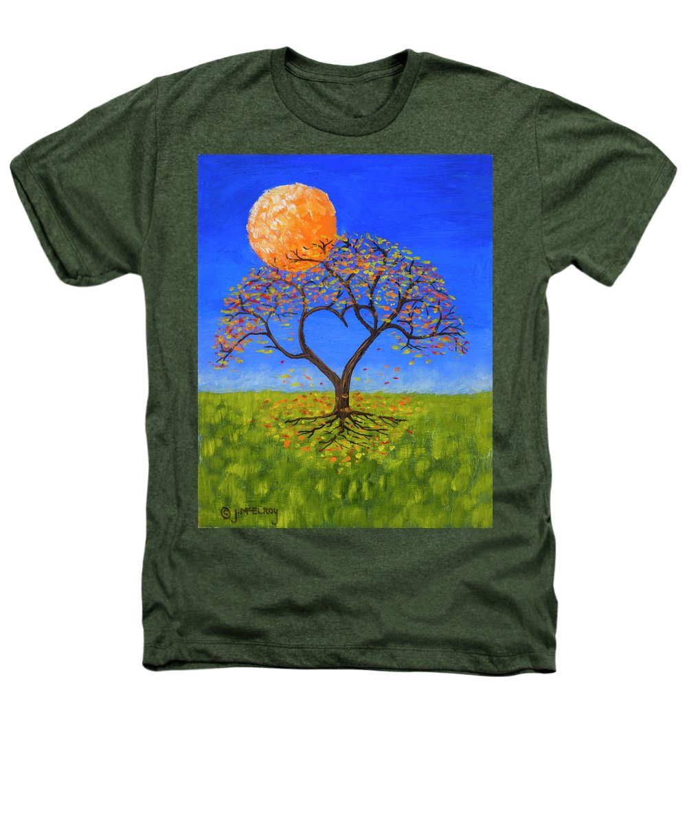 Love Heathers T-Shirt featuring the painting Falling For You by Jerry McElroy