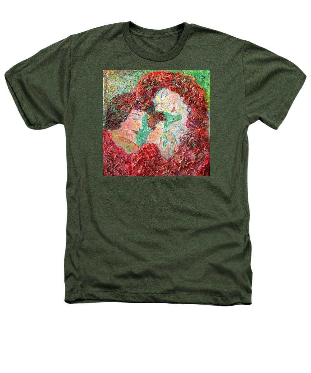 Mother Heathers T-Shirt featuring the painting Family Safety by Naomi Gerrard