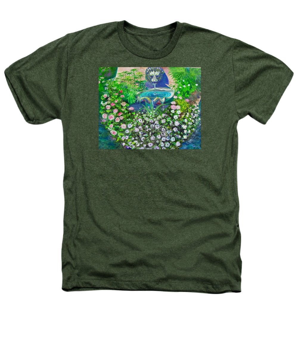 Fountain Heathers T-Shirt featuring the painting Fantasy Fountain by Michael Durst
