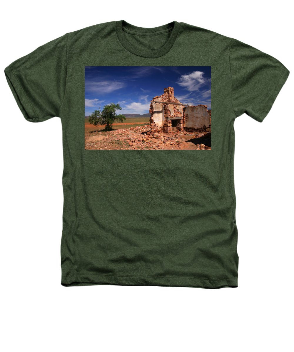 Cottage Heathers T-Shirt featuring the photograph Farmhouse Cottage Ruin Flinders Ranges South Australia by Ralph A Ledergerber-Photography