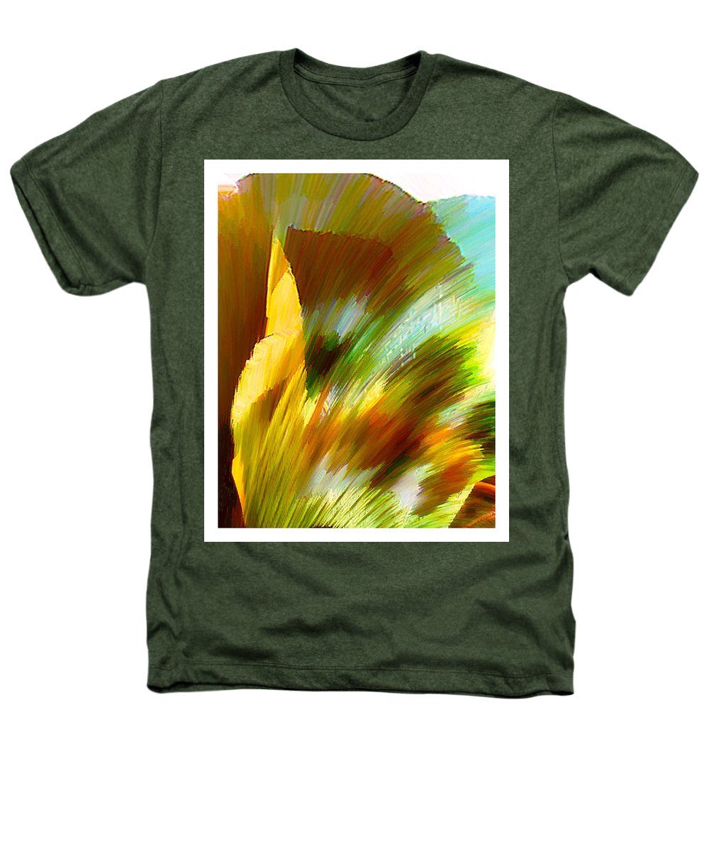 Landscape Digital Art Watercolor Water Color Mixed Media Heathers T-Shirt featuring the digital art Feather by Anil Nene