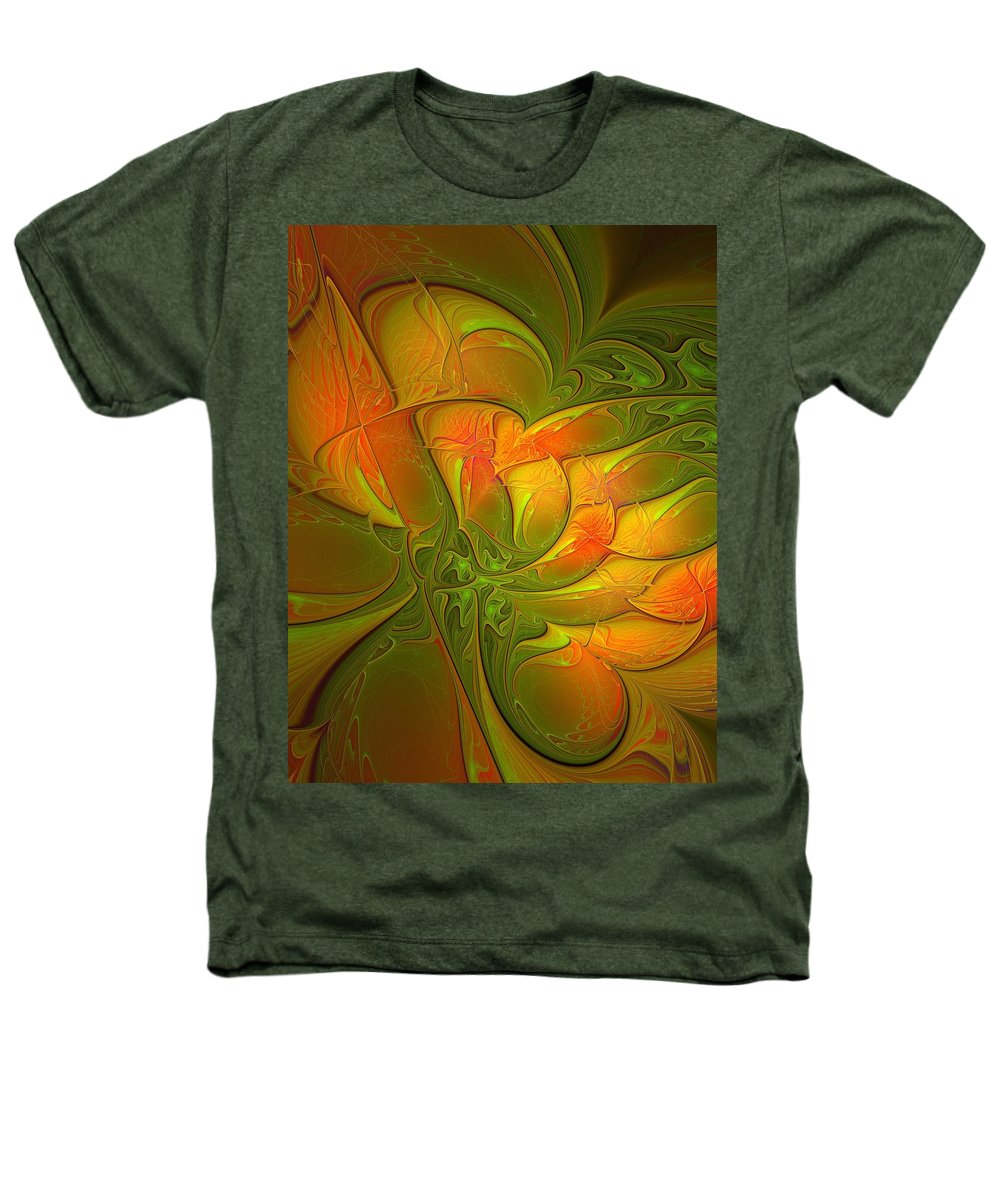 Digital Art Heathers T-Shirt featuring the digital art Fiery Glow by Amanda Moore
