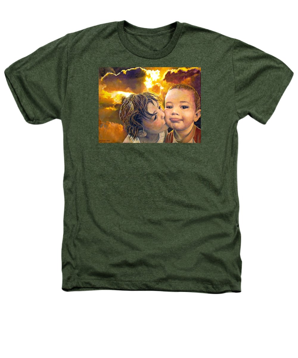 Children Heathers T-Shirt featuring the painting First Kiss by Michael Durst