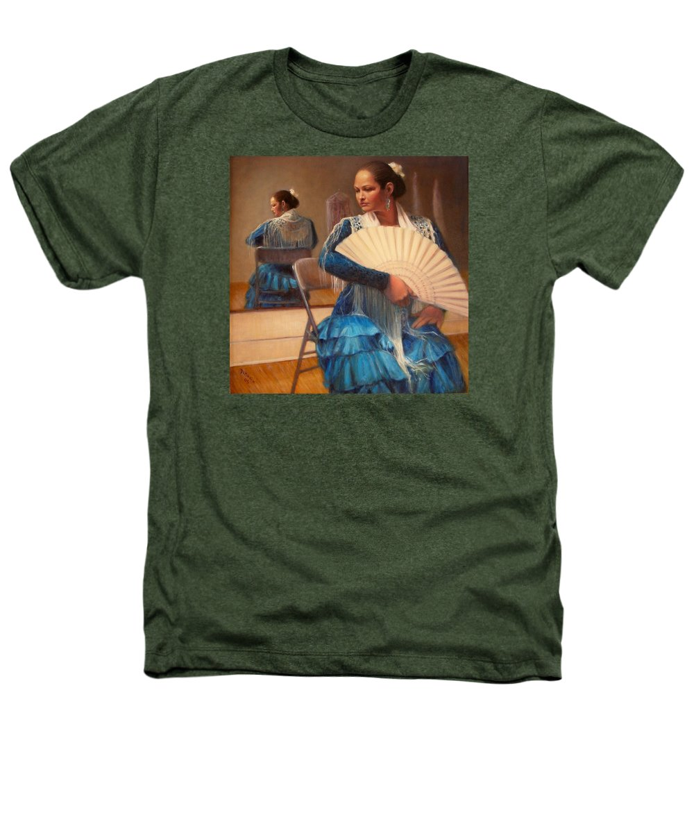 Realism Heathers T-Shirt featuring the painting Flamenco 1 by Donelli DiMaria