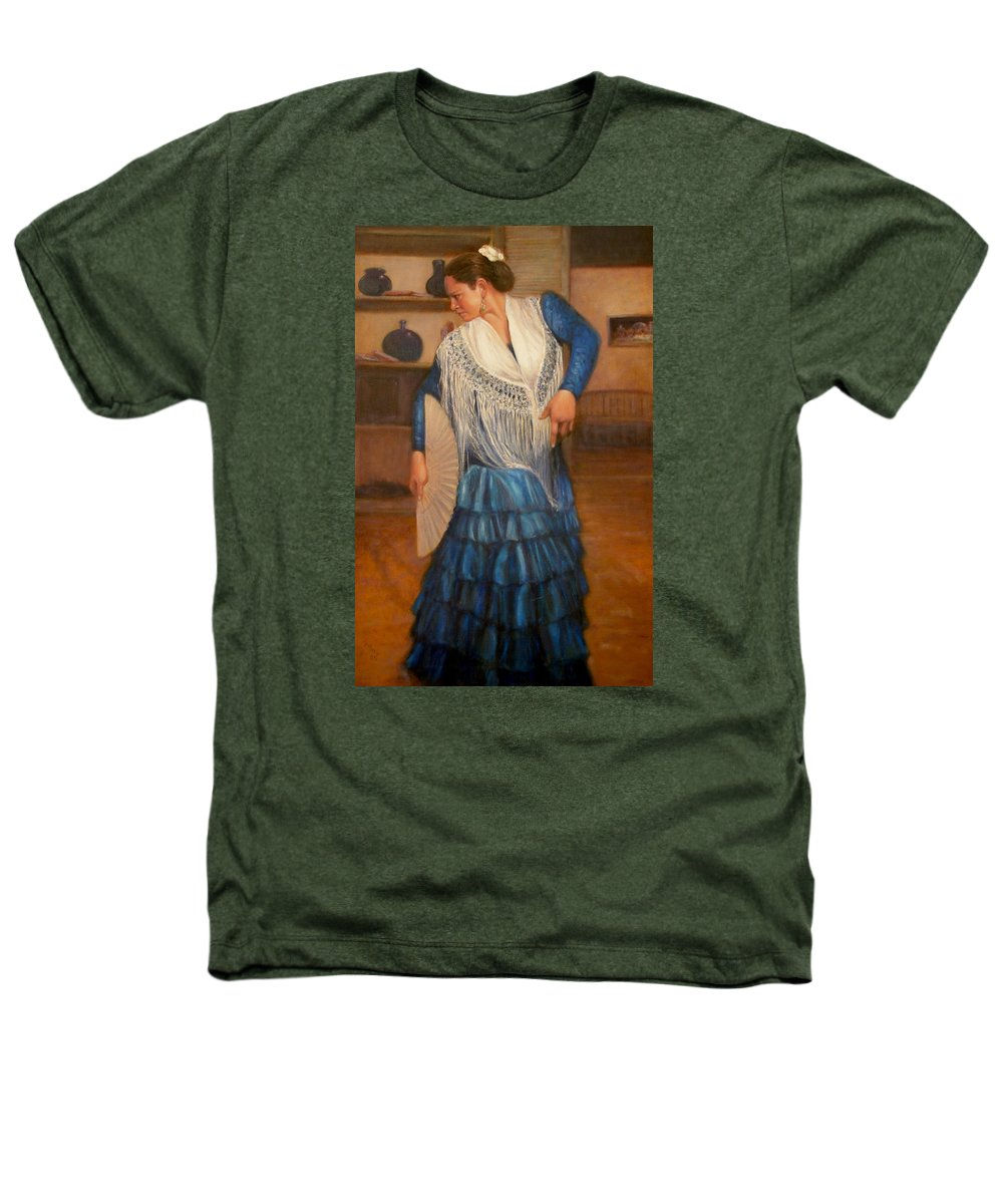 Realism Heathers T-Shirt featuring the painting Flamenco 2 by Donelli DiMaria