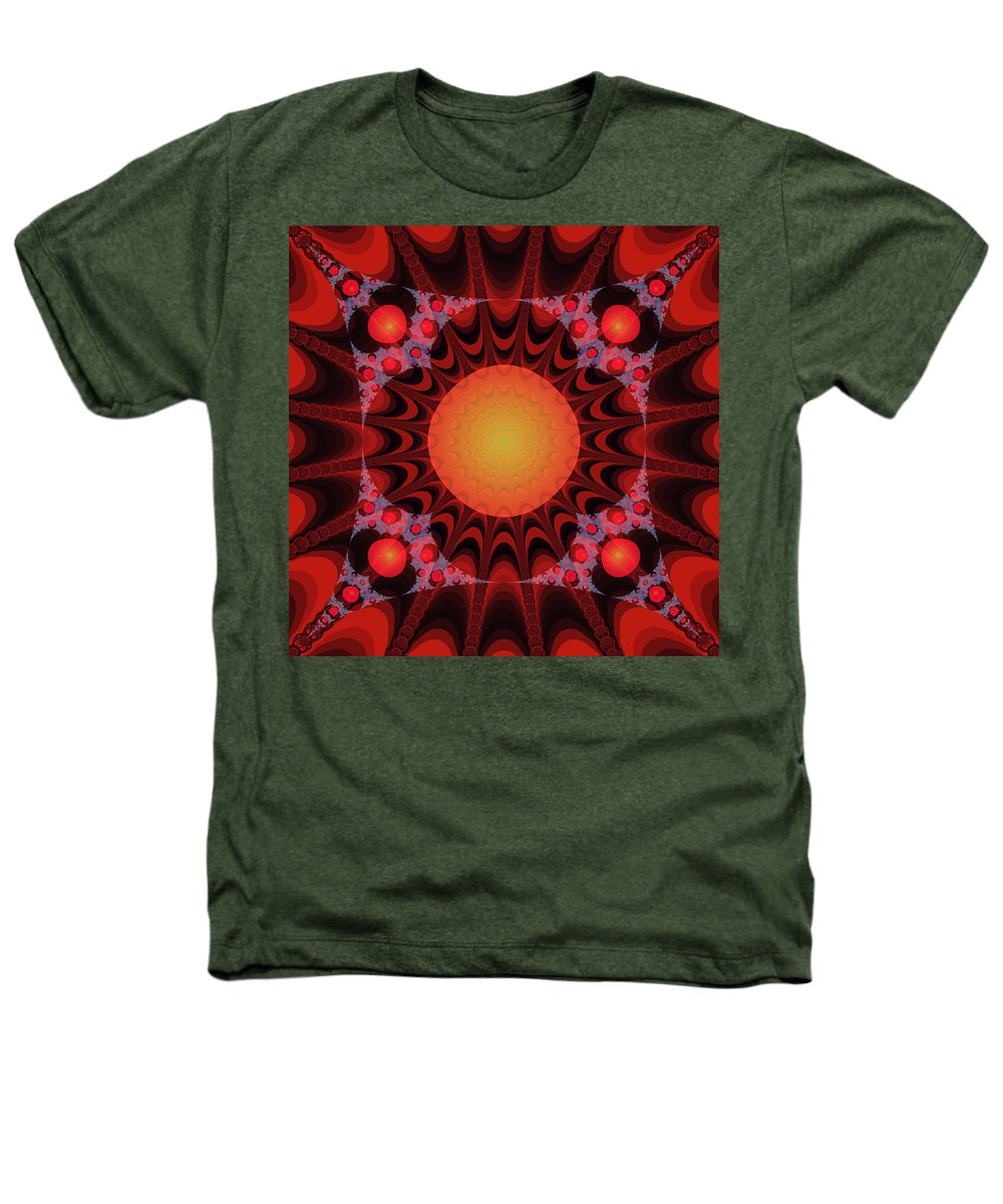 Fractal Heathers T-Shirt featuring the digital art Flaming Sol by Frederic Durville