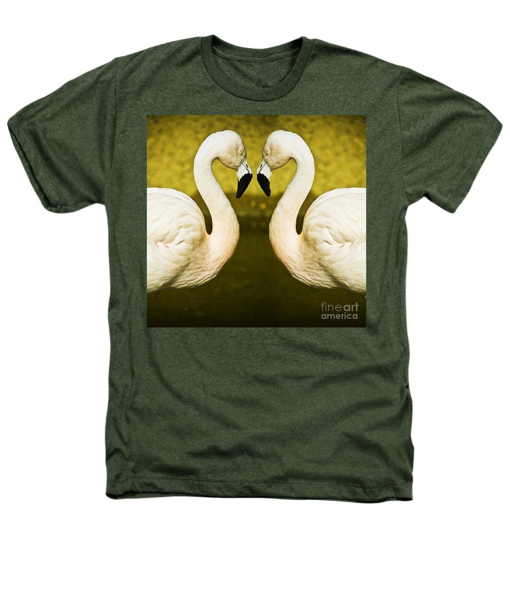 Flamingo Heathers T-Shirt featuring the photograph Flamingo Reflection by Avalon Fine Art Photography