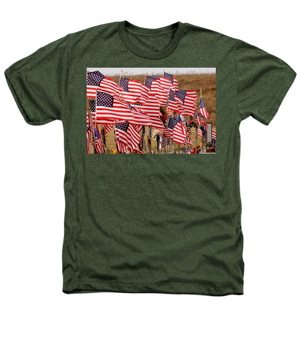 Flags Heathers T-Shirt featuring the photograph Flight 93 Flags by Jean Macaluso