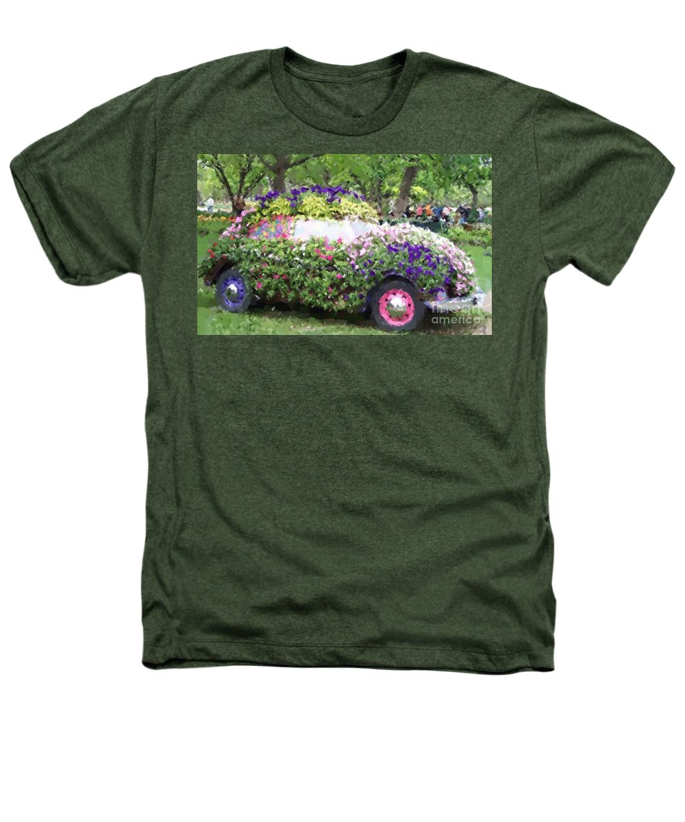 Cars Heathers T-Shirt featuring the photograph Flower Power by Debbi Granruth