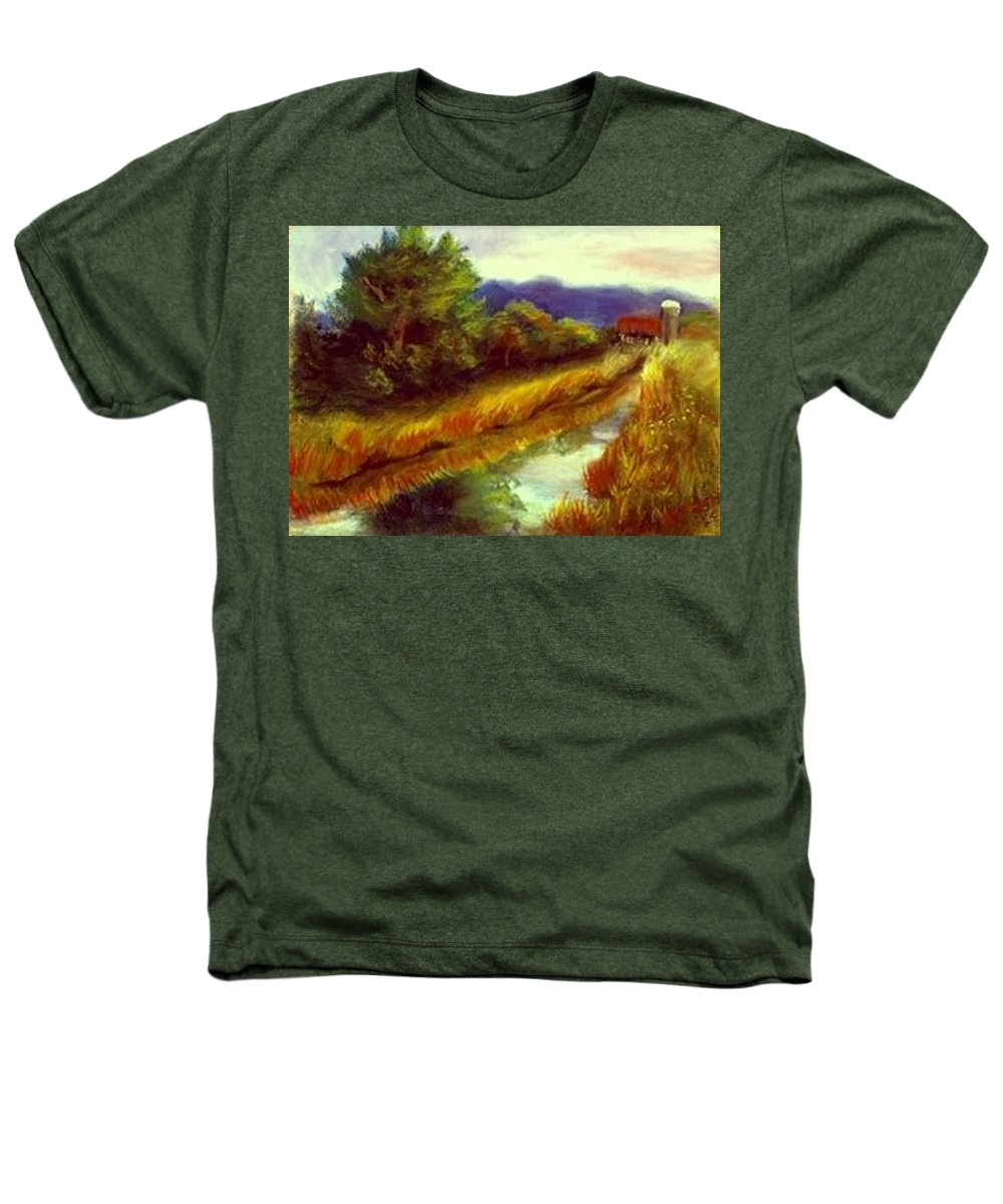 Landscape Heathers T-Shirt featuring the painting For A Thirsty Land by Gail Kirtz