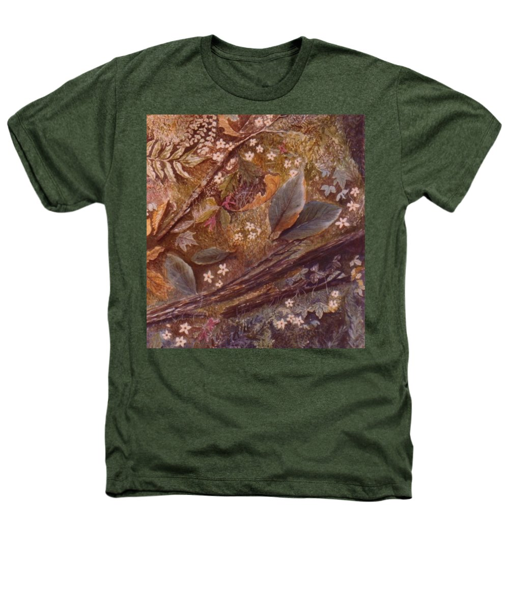 Leaves; Forest; Flowers Heathers T-Shirt featuring the painting Forest Floor by Ben Kiger