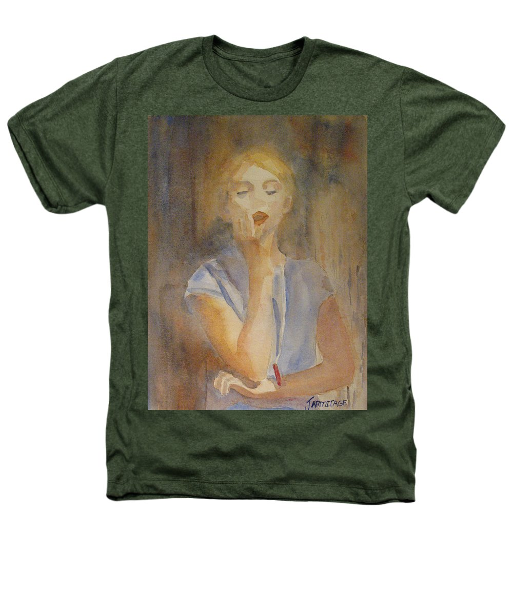 Woman Heathers T-Shirt featuring the painting Forest Singer by Jenny Armitage