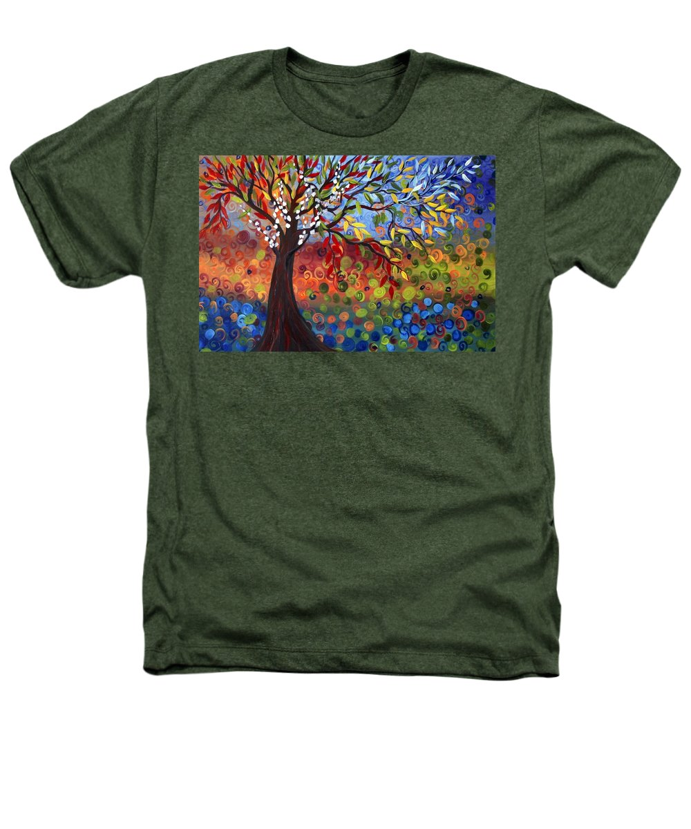 Art Heathers T-Shirt featuring the painting Four Seasons by Luiza Vizoli