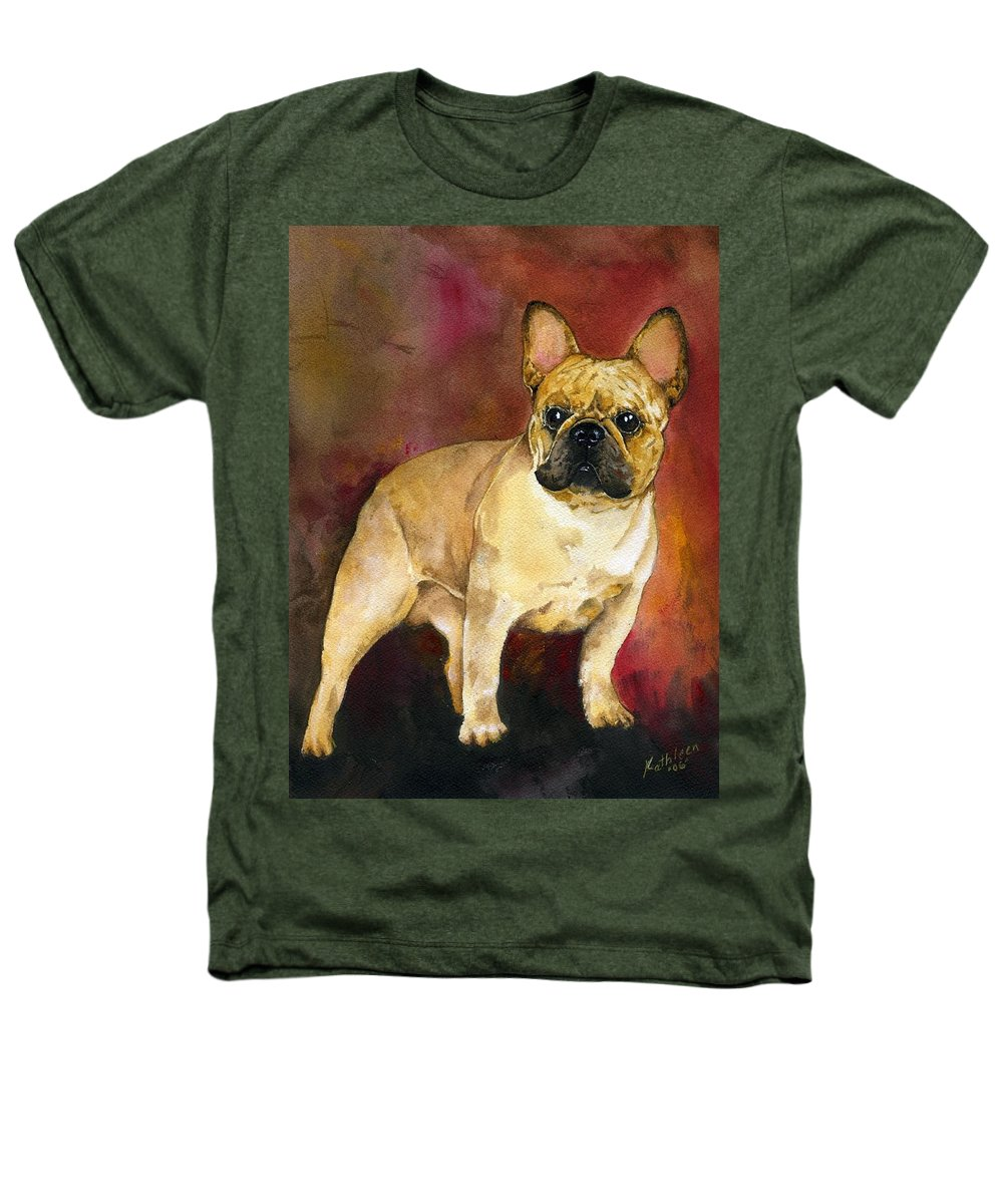 French Bulldog Heathers T-Shirt featuring the painting French Bulldog by Kathleen Sepulveda