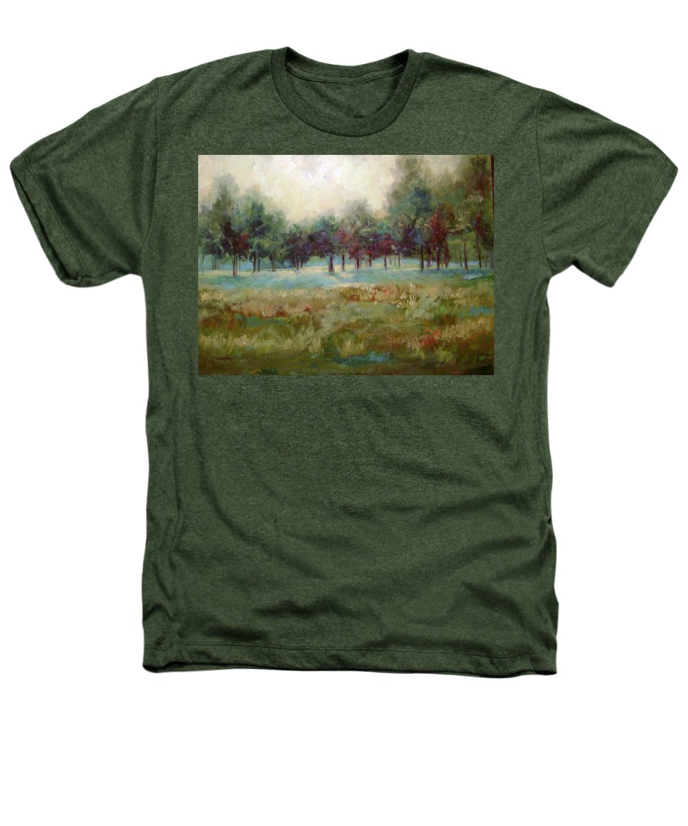 Country Scenes Heathers T-Shirt featuring the painting From The Other Side by Ginger Concepcion