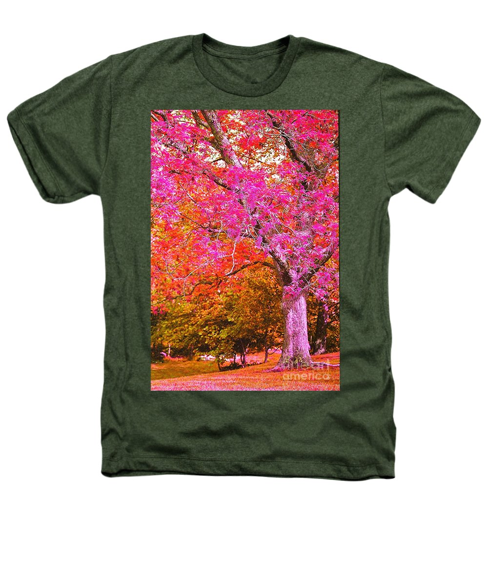 Fuschia Heathers T-Shirt featuring the photograph Fuschia Tree by Nadine Rippelmeyer