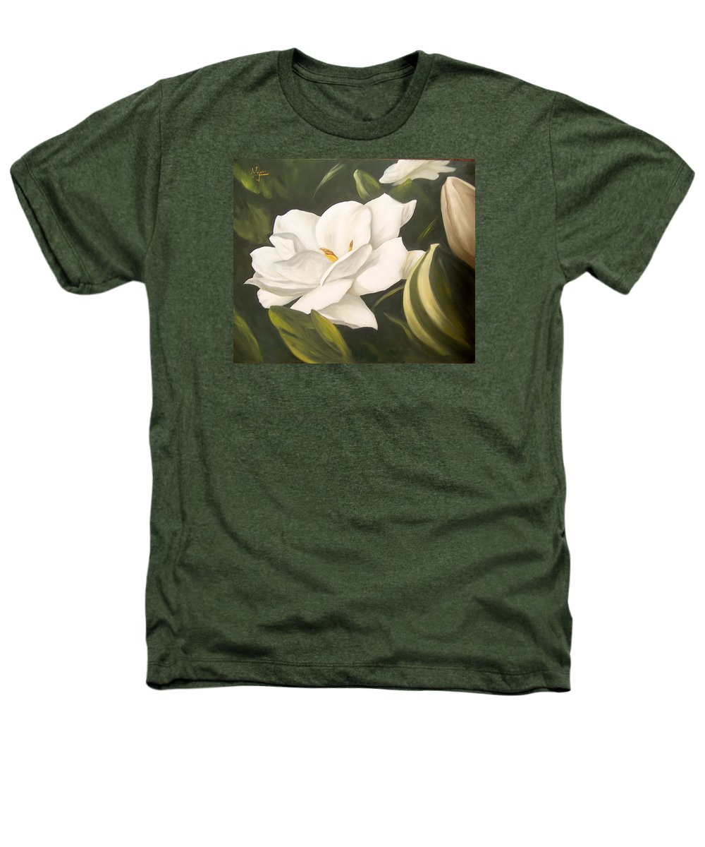 Gardenia Flower Heathers T-Shirt featuring the painting Gardenia by Natalia Tejera
