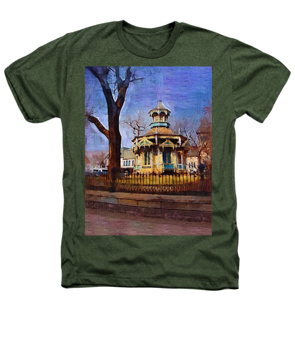Architecture Heathers T-Shirt featuring the digital art Gazebo And Tree by Anita Burgermeister