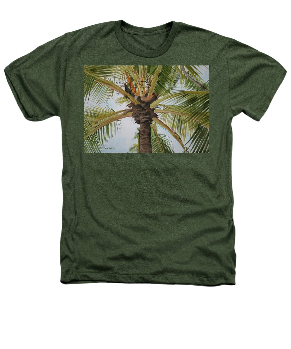 Palm Tree Heathers T-Shirt featuring the painting Gecko Heaven by Jean Blackmer