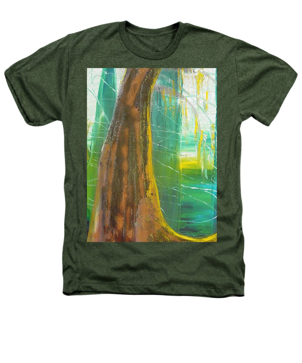 Landscape Heathers T-Shirt featuring the painting Georgia Morning by Peggy Blood