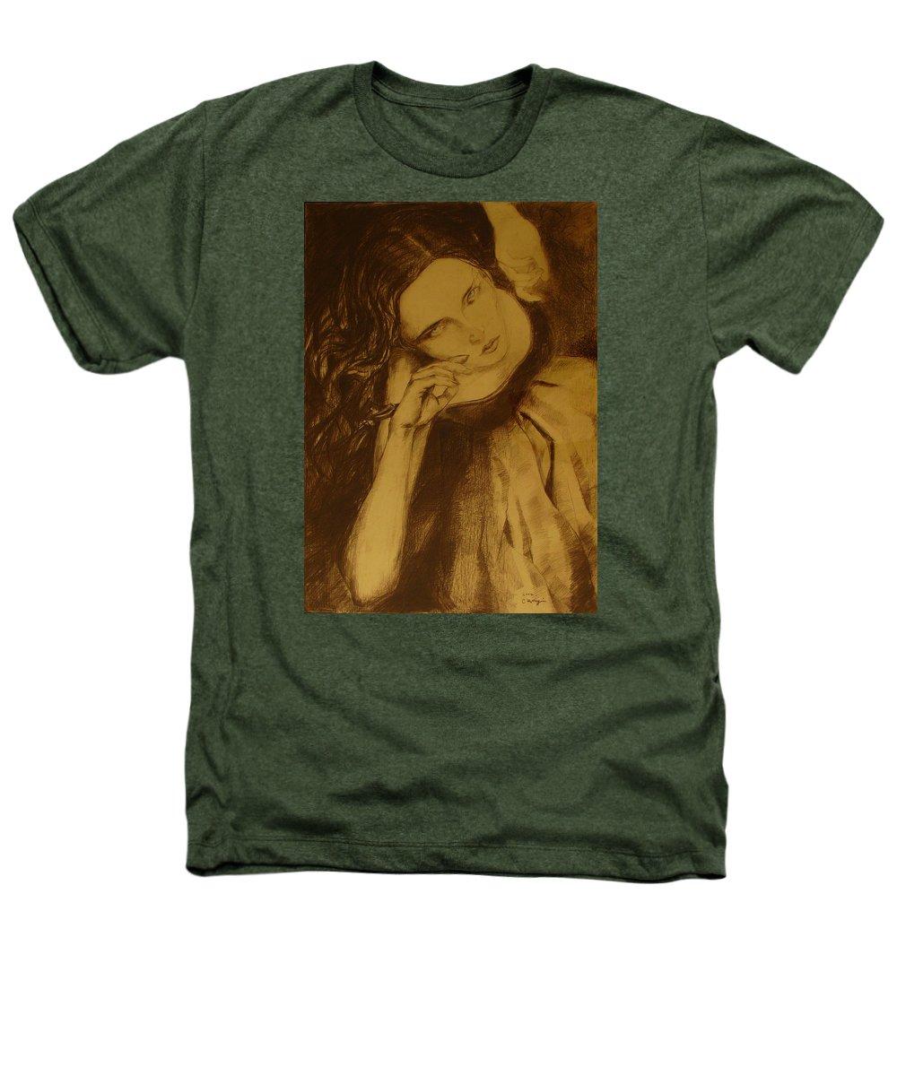 Art Drawings Heathers T-Shirt featuring the drawing Girl Dancing by Cristina Rettegi
