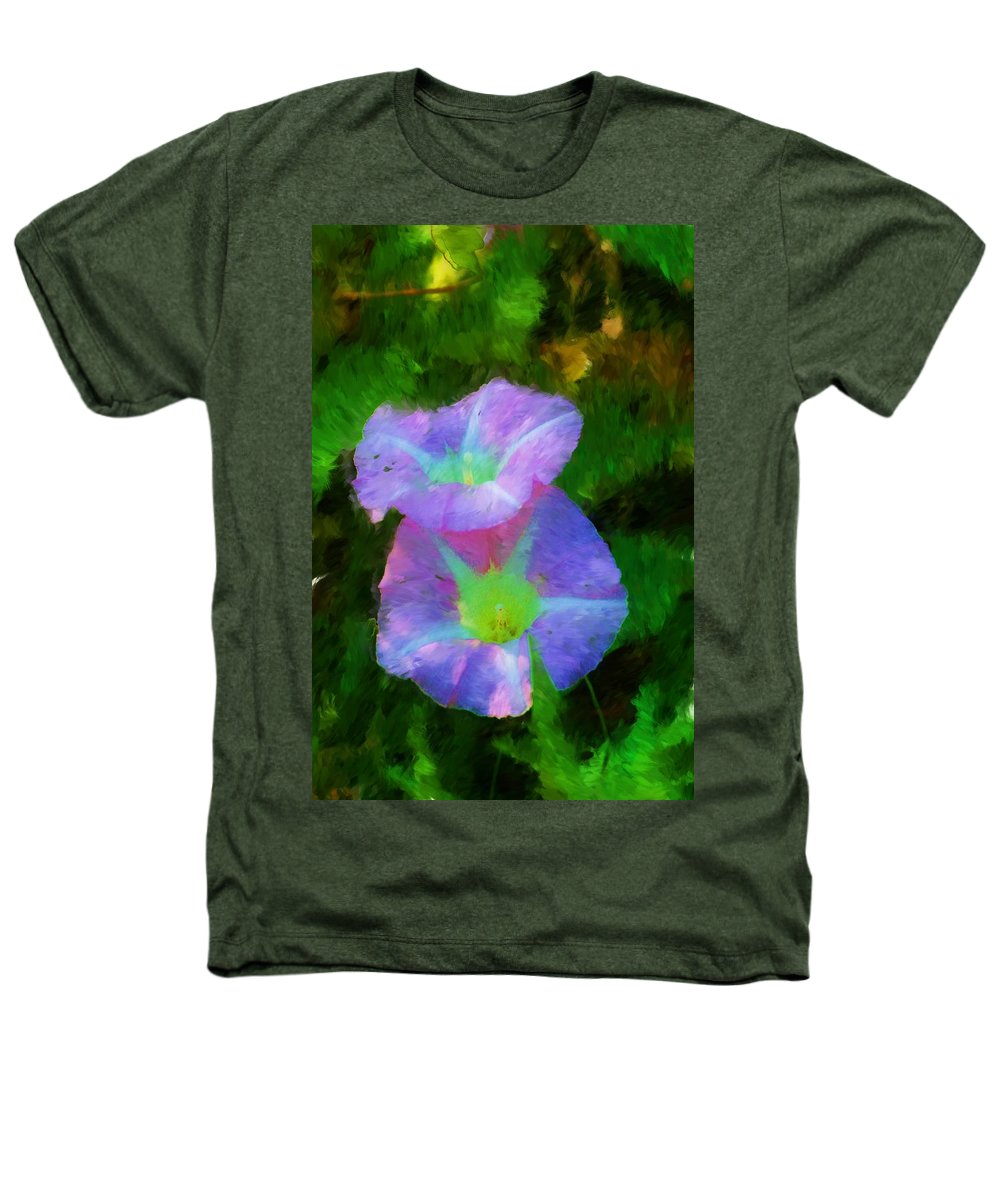 Floral Heathers T-Shirt featuring the painting Gloria In The Shade by David Lane
